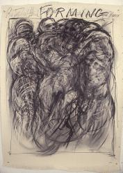 forming  42x60  charcoal on paper 1986