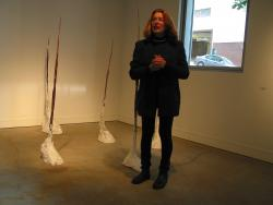 jane with tracking at friesen gallery